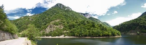 Cerna river. At Prisaca lake Royalty Free Stock Photo