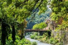 Cerna river and the tourist resort Baile Herculane