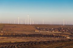 Cernavoda wind turbine farm Stock Images