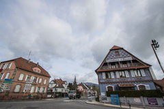 Cernay streets, France Royalty Free Stock Images