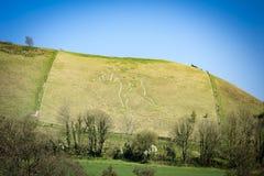 Cerne Abbas i Dorset Arkivfoton