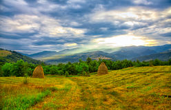 Cernei Mountains seen from nearby Mehadia Royalty Free Stock Photo