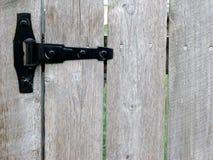 Cerniera del cancello di giardino immagine stock