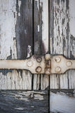 Cerniera sui vecchi otturatori Fotografia Stock