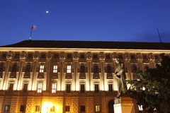 Cernin Palace at night Royalty Free Stock Photo