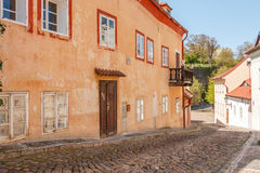 Cerninsca historic street in Prague, Czech Republic Royalty Free Stock Photos