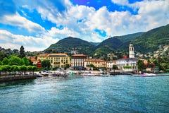 Cernobbio stad, Como landskap för sjöområde Italien Europa arkivfoto