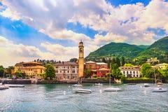 Cernobbio town, Como Lake district landscape. Italy, Europe. Royalty Free Stock Photography