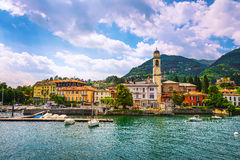 Cernobbio town, Como Lake district landscape. Italy, Europe. Stock Photo