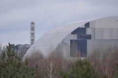 Cernobyl, UCRAINA - 14 dicembre 2015: Centrale atomica di Cernobyl Fotografie Stock Libere da Diritti