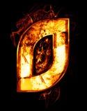 Cero, ejemplo del número con efectos del cromo y fuego rojo o Imagen de archivo libre de regalías