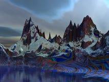 cerolon lazurowe góry Obraz Royalty Free