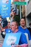 Cerque con piquete la protesta contra la decisión de Oracle Imágenes de archivo libres de regalías