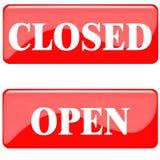 Cerrado ábrase Imagen de archivo libre de regalías