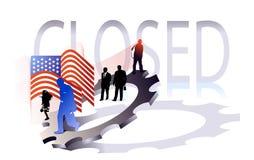 Cerrado ilustración del vector