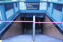 Cerrado de los subterráneos debido al huracán Irene Fotografía de archivo
