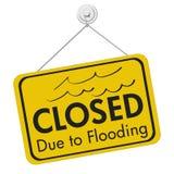 Cerrado debido a inundar la muestra imágenes de archivo libres de regalías