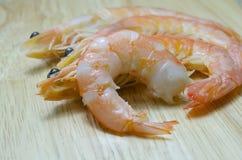 Cerrado encima de camarón hervido Foto de archivo