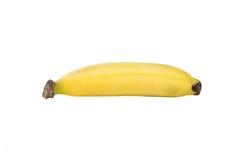Cerrado encima de plátano en blanco Imagenes de archivo