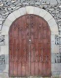 Cerrado, metal, puerta marrón Fotos de archivo libres de regalías