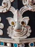 Cerrado para arriba de viejo estilo tailandés del estuco Foto de archivo libre de regalías