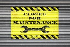 Cerrado para el obturador del mantenimiento Imagen de archivo libre de regalías