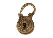 Cerradura antigua de bronce Imágenes de archivo libres de regalías