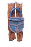 Cerradura azul del metal Foto de archivo libre de regalías