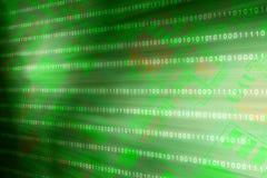 Cerradura cibern?tica del acceso de la seguridad en la protecci?n de datos en l?nea de la matriz del verde de Internet binario de ilustración del vector