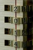 Cerradura de combinación del Año Nuevo 2014 Imagen de archivo