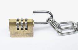 Cerradura de combinación del número Imágenes de archivo libres de regalías