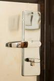 Cerradura de la puerta de la habitación Foto de archivo libre de regalías