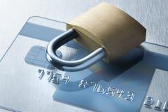 Cerradura de la tecnología de la tarjeta de crédito de seguridad fotografía de archivo