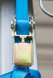 Cerradura de las cadenas en el registro Foto de archivo