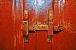 Cerradura de madera Fotos de archivo libres de regalías
