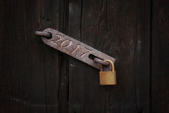2017, cerradura de puerta Fotografía de archivo