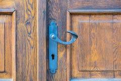Cerradura de puerta del vintage imágenes de archivo libres de regalías