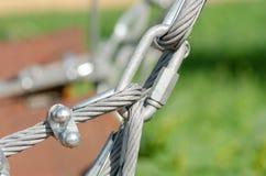 Cerradura del cable del metal imagen de archivo