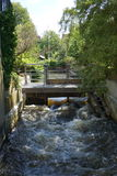 Cerradura del canal en Ribe Foto de archivo