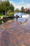 Cerradura del canal, Stourport en Severn, Staffordshire y Worcester Fotografía de archivo