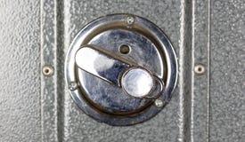 Cerradura del depósito de la seguridad del metal Cierre para arriba fotos de archivo libres de regalías
