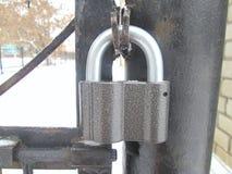 Cerradura del hierro Fotografía de archivo