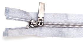 Cerradura gris en la ropa en el fondo blanco Fotos de archivo libres de regalías