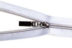 Cerradura gris en la ropa en el fondo blanco Imagen de archivo libre de regalías