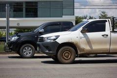 Cerradura privada de Toyota Hilux Revo 4X4 Diff del coche de la camioneta pickup Fotografía de archivo