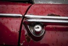 Cerradura roja del coche Foto de archivo libre de regalías