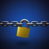 Cerradura y cadena Imagenes de archivo