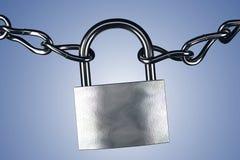 Cerradura y cadenas Foto de archivo