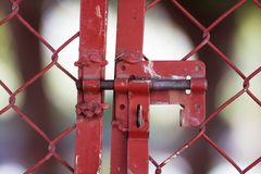 Cerradura y cerca Imagen de archivo libre de regalías