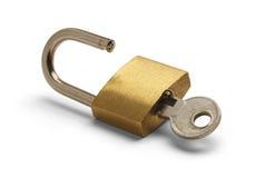 Cerradura y llave Fotografía de archivo